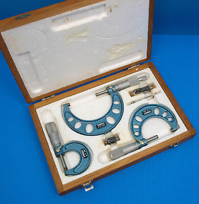 """~~~ NEW MADE in JAPAN NSK FOWLER 0-3"""" MICROMETER SET with STANDARDS and CASE"""
