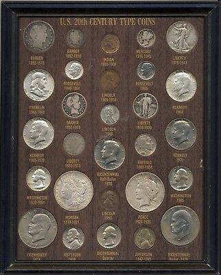 United States 20Th Century Type Coin Set 28 Coins In All Lots Of Silver
