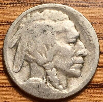 1920 S United States Buffalo Head Nickel Coin San Francisco Mint Good Condition