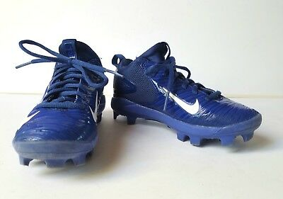 release date 86f9c ec7bd Nike Boys Sz 11 Mike Trout 3 Pro Mid Youth Baseball Cleats Blue 856499