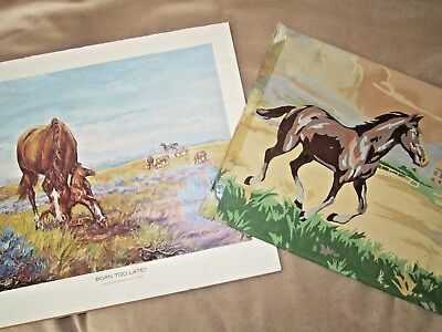 Vintage Paint by Number PBN 1950s & Ben Cooper Print Horse Advertising 1969