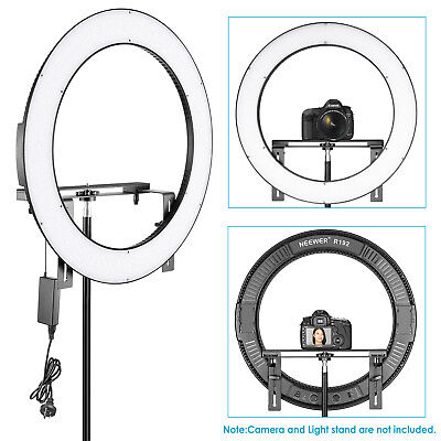 "Neewer 19"" Outer Dimmable Bi-color 192 LED Ring Light with Bracket 3200K-5600K"