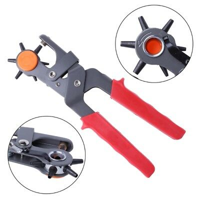 """NEW 6 Sized 9"""" Heavy Duty Leather Hole Punch Hand Pliers Belt Holes Punches Tool"""