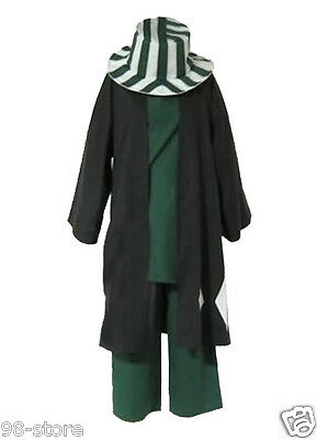Japanese anime Animation Bleach Urahara Kisuke Cosplay Costume with hat SIZE S