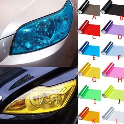 New Auto Car Smoke Fog Light Headlight Taillight Tint Vinyl Film Sheet Sticker