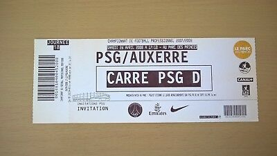 Ticket Football Psg-Auxerre 2008