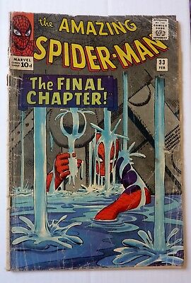 Amazing Spider-Man 33 Silver Age 1965 G+/VG- Condition