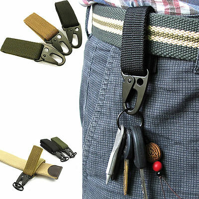 Practical Carabiner High Strength Nylon Key Hook Belt Buckle Hanging Keychains