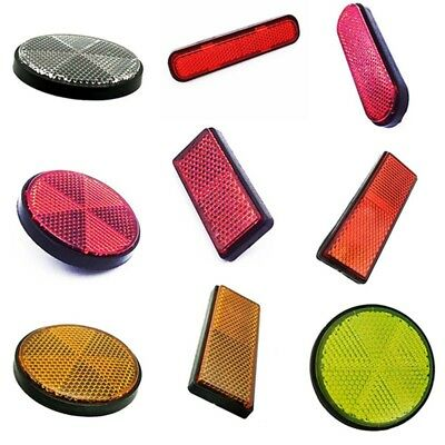 Bicycle Bike Round Rectangle Reflector Safety Night Cycling Reflective Accessory