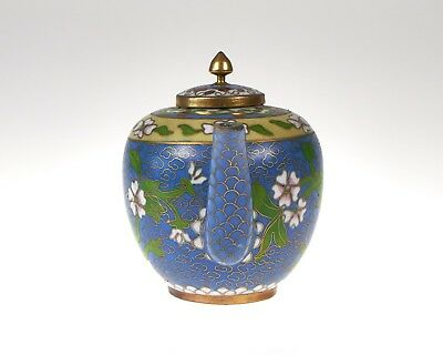 Vintage Chinese cloisonne and gilt teapot in excellent condition