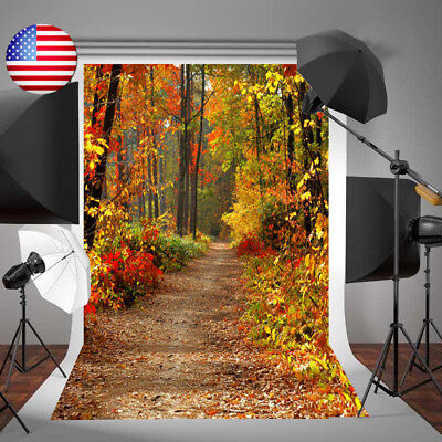 3X5FT Autumn Fall Forest Vinyl Photography Backdrop Studio Background Props US