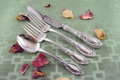 KING RICHARD 4-Piece French Blade Setting Towle Sterling