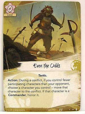 Legend of the Five Rings LCG - 1x #018 Even the Odds - Breath of the Kami