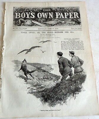 Victorian June 20 1896 Boys Own Paper:  Woodwork: Exploring Australia: Discount