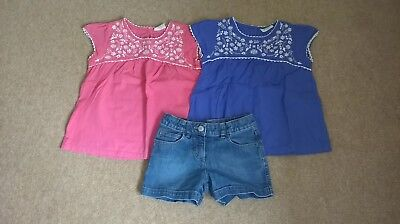 Mini Boden Girls Shorts and Top Bundle Age 6-7 Excellent Condition