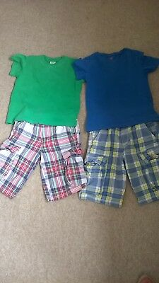 Boys Mini Boden Shorts and T-Shirt Bundle Age 6-7 Great Condition