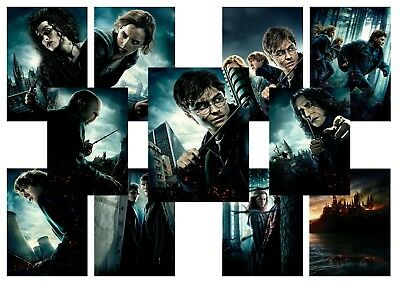 HARRY POTTER deathly hallows part 1 Voldemort  A5 A4 A3 Textless Movie Poster