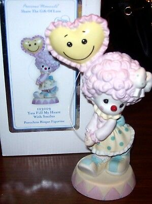 "Precious Moments ""You Fill My Heart With Smiles"" Circus Clown Figurine NEWinBOX"