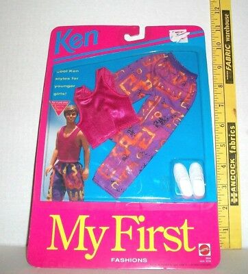 3 different 1993 NOC MY FIRST FASHIONS Barbie outfits CLOTHES /& CRAYONS