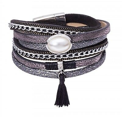 Tamaris Bracelet Phoeby Leather Black