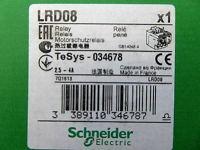 NEW SCHNEIDER ELECTRIC TELEMECANIQUE LRD10   Thermal Overload  4-6 AMP