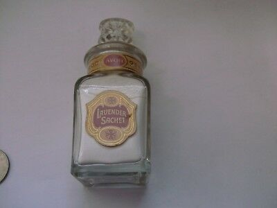 Vintage Avon Lavender Sachet in Pretty Glass Decanter