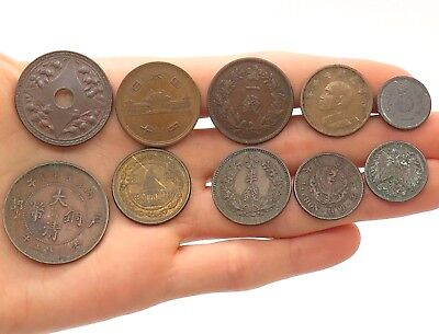 China /Chinese Random Age Various Collectible Coins Lot of 24