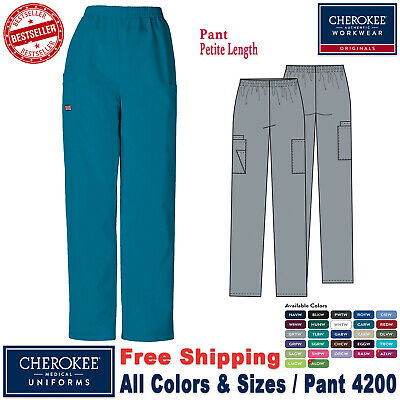 Cherokee Scrub New Original Uniform Medical Nursing Pull-On Cargo Pants_P
