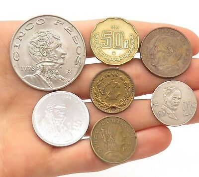 Mexico /Mexican Random Age (40s-70s) Various Collectible Coins Lot of 10