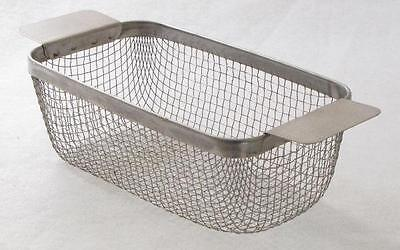 "ULTRASONIC CLEANING BASKET CP14M 304 SS WIRE MESH 9"" x 5 x 3.125 part washing"