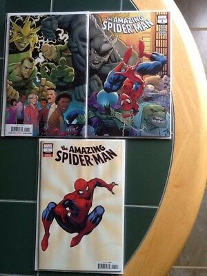 Two (2) The Amazing Spider-Man Issue #1 (2018) Marvel Comics Regular & Variant