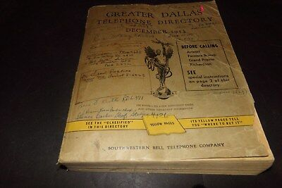 Vintage Southwesten Bell Telephone Book Dallas Texas Phone Book 1953 Big Book