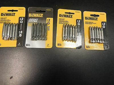 "4-Pks. Dewalt Phiilips Power Bits & Impact Power Bits Plus Double Ended 2"" Lengt"