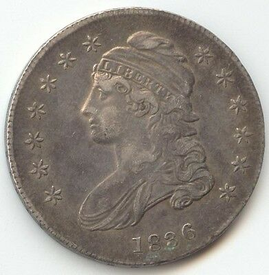 1836 Capped Bust Half Dollar, Lustrous XF