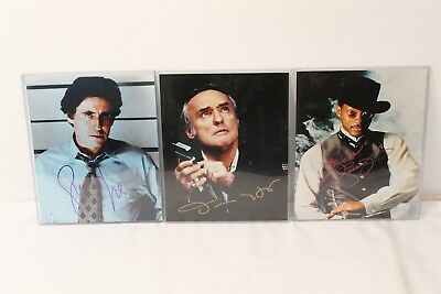 3 Autographed 8x10 Photos w/ Gabriel Byrne, Dennis Hopper + Will Smith with COA