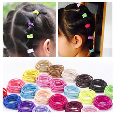50Pcs Kids Girl Elastic Rope Hair Ties Ponytail Holder Head Band Hairbands