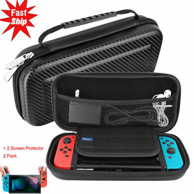 Portable Carbon Fiber Carrying Case Hard Shell Protector Bag For Nintendo Switch