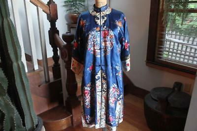 Vintage Antique Chinese Silk Embroidered Robe -Free Shipping-Nr