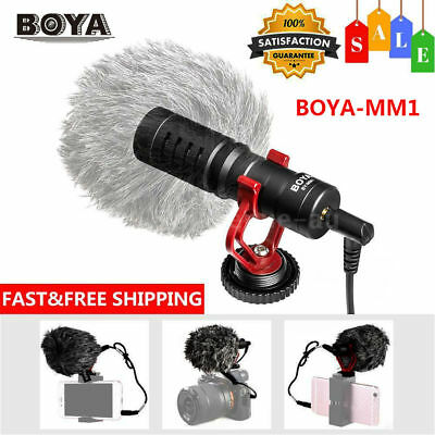 BOYA BY-MM1 Cardiod Shotgun Video Microphone Video for iPhone Samsung Camera DH