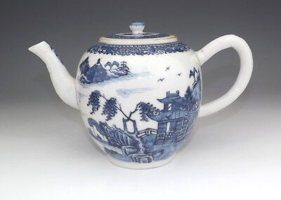 Antique Chinese Porcelain - Oriental Scene Decorated Large Teapot - Lovely!