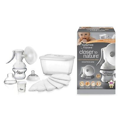 Tommee Tippee closer to nature Manuelle Milchpumpen-Set m. Sterilisationsbox NEU