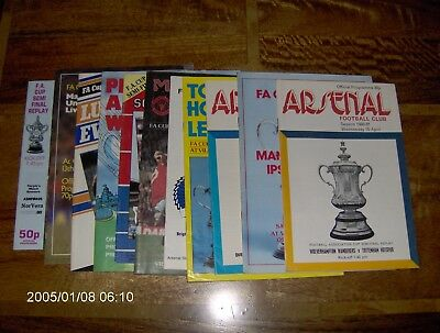 11 x Assorted 1980's FA Cup Semi Final Programmes