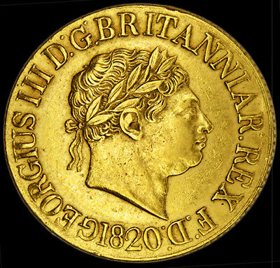 King George The Iii 1820 Gold Sovereign...
