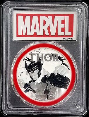 2018 Marvel, THOR One Dollar silver coin from Tuvalu, certified MS 69 by PCGS!