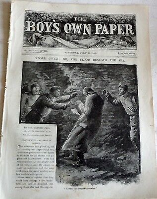 Victorian July 11 1896 Boys Own Paper:  Mandolins: Sea Fishing: Heroic Woman