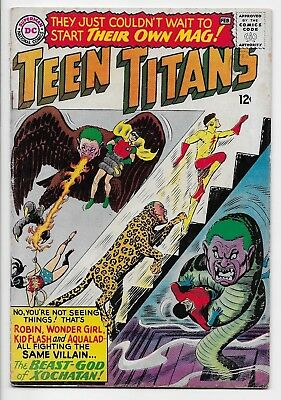 Teen Titans #1 Feb 1966 KEY Issue DC Comics FN Off-white pages JLA Cameo