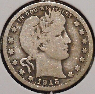 Barber Quarter - 1915-D - Historic Silver! - $1 Unlimited Shipping.