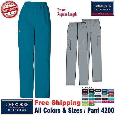 Cherokee Scrub New Original Workwear Medical Uniform Pull on Cargo Pants_R