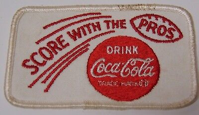 """Old Antique Vintage 1960s DRINK COCA COLA NFL FOOTBALL ADVERTISING PATCH 4"""" INCH"""
