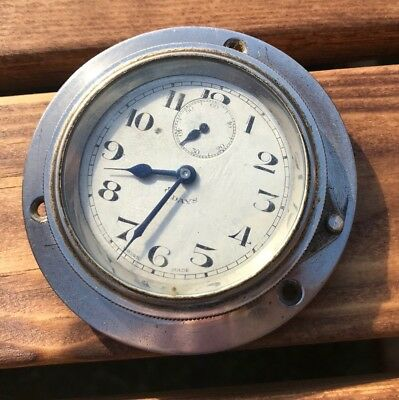 Vintage Bezel Wind Swiss 8 Day Dash Clock Not Working